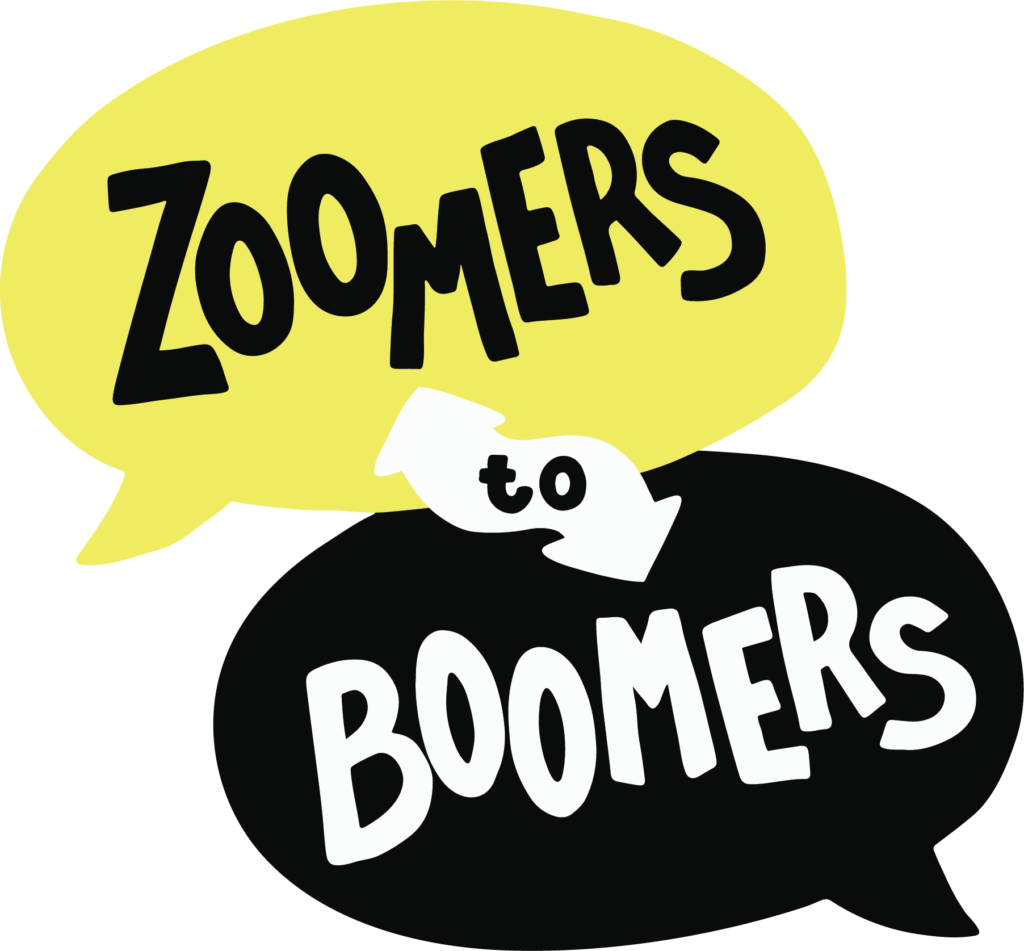 zoomer to boomers logo